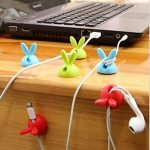 4 Piece Rabbit Ears Cable Organizers Clip Holders $5.99 Shipped