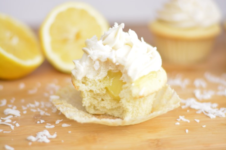 Coconut Lemon Cupcakes with Cream Cheese Frosting