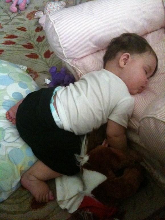 A Very Interesting Way To Sleep