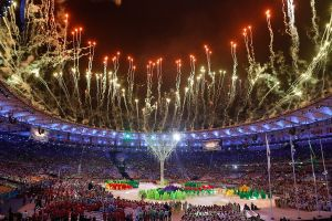 The Rio 2016 Olympic Games closing ceremony. By Agência Brasil Fotografias - Terminam os Jogos Olímpicos Rio 2016, CC BY 2.0, https://commons.wikimedia.org/w/index.php?curid=50811838