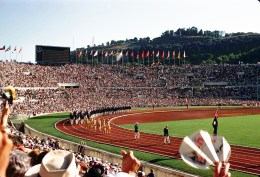 Rome has not hosted the Olympics since 1960. By Alex Dawson - Flickr: Rome Olympics 1960 - Opening Day, CC BY-SA 2.0, https://commons.wikimedia.org/w/index.php?curid=18021276
