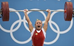 Ukraine's Yulia Kalina, bronze medalist in the women's 58 kilograms event, is the sole weightlifter to be sanctioned by the IOC from London 2012 after she tested positive for anabolic steroid substance turinabol, an anabolic steroid.