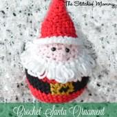 Crochet Santa Ornament - Free Pattern
