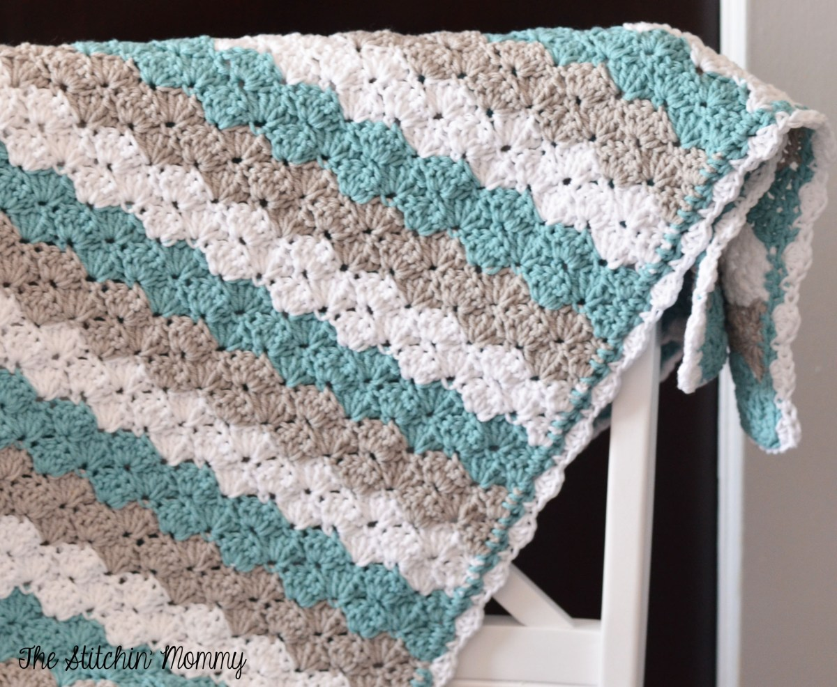 Shell Stitch Baby Blanket - Free Pattern