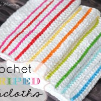 Crochet Striped Dishcloths
