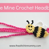 """Bee Mine"" Crochet Headband - Free Pattern"