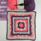 Rising Sun 12 Inch Afghan Square - Free Crochet Pattern {#MooglyCAL2016 Block 15!}