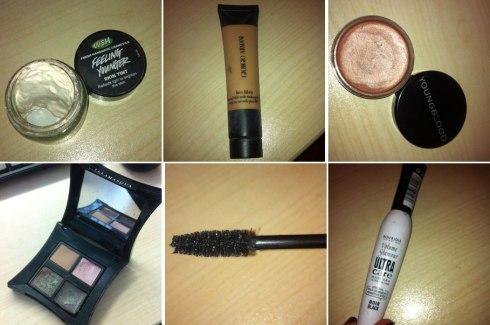 Make-up essentials (clockwise) Lush
