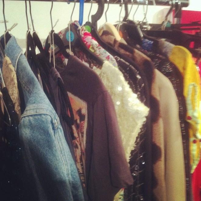 Rails of clothing from Rentez-Vous