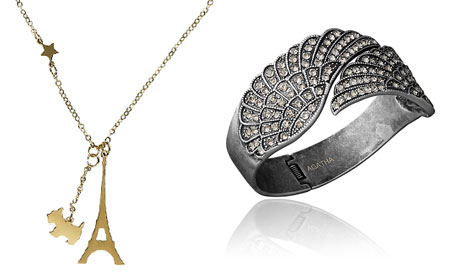 Paris necklace and bracelet