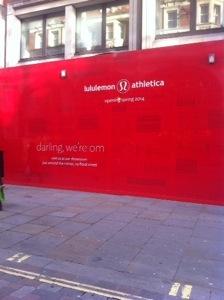 Lululemon opening in Covent Garden