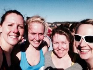 Katy, me, Alexa and Hilary at the start (c) Katy Malpass