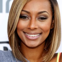Keri Hilson's Shoulder Length Angled Bob Haircut