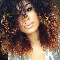 Ombre Hair Coloring Ideas For Natural Hair / Curly Hair