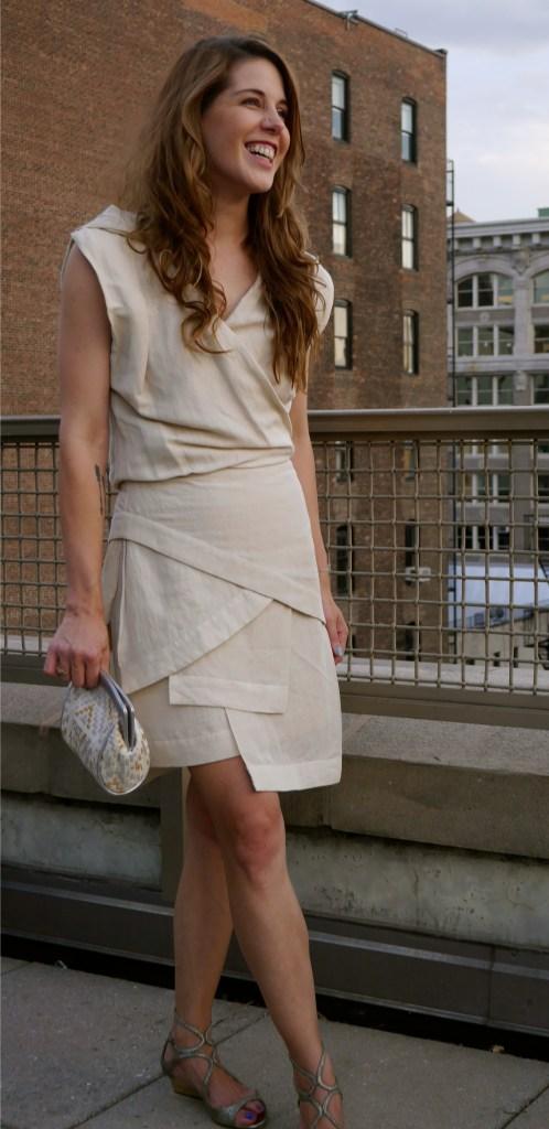 Dress: Alexander Wang (Consignment) | Shoes: Jimmy Choo (Saks Fifth Avenue) | Clutch: Jess Rizzuti