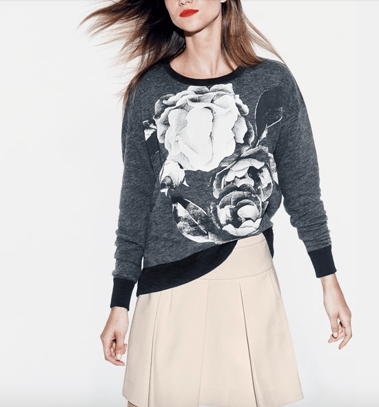 Behold! A $75 sweatshirt. (If you pay that price for this, I'm snapping your credit card.)