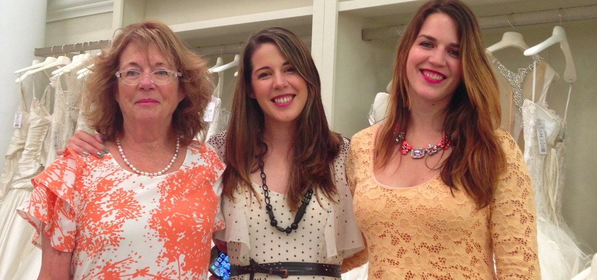 My mom, my sister and me at Kleinfeld last July.