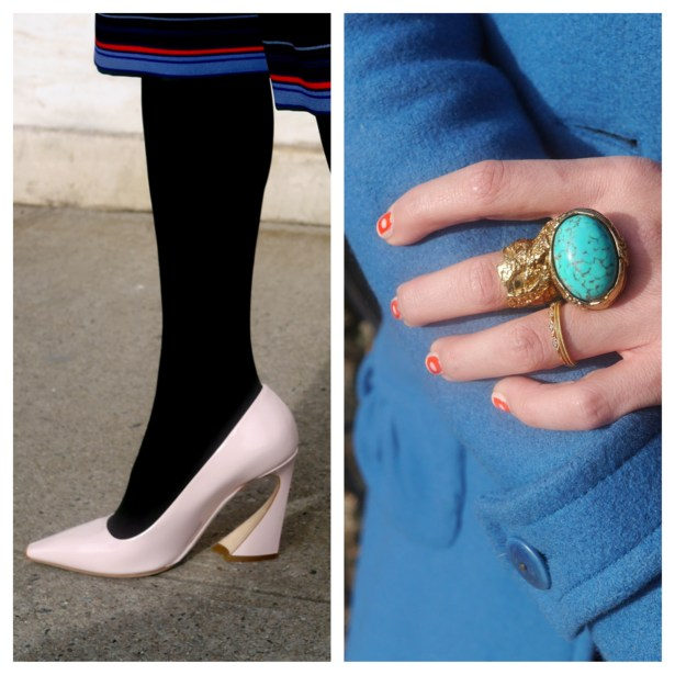 Left: Dior shoes | Right: YSL Ring (Consignment)