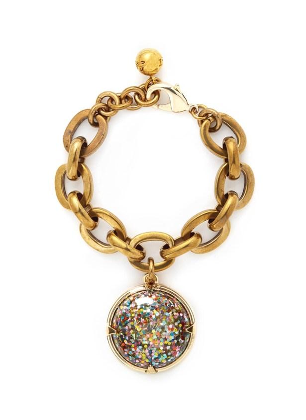 Lulu Frost Glitter Do,e Charm Bracelet, $360