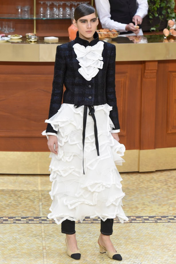 My inspiration: One of the looks from Chanel's Fall 2015 RTW collection.