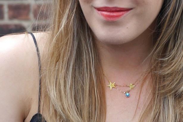 Star Necklace: Gorjana | Monstone Necklace: Catbird