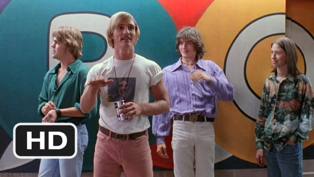 My style inspiration was Pink in Dazed and Confused (second from right in white trousers).