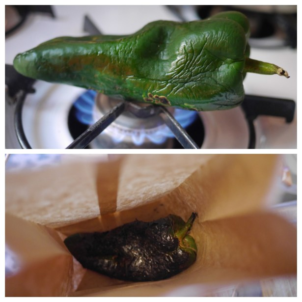 I was intimidated by roasting poblano peppers, but it was surprisingly easy.