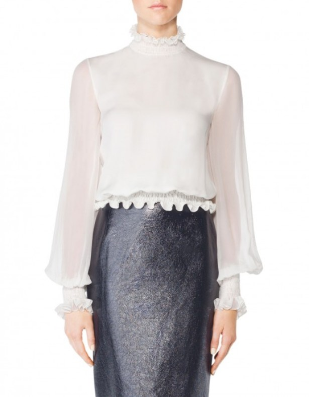 Tamara Mellon Smocking Turtleneck Top, $220 (60% off)