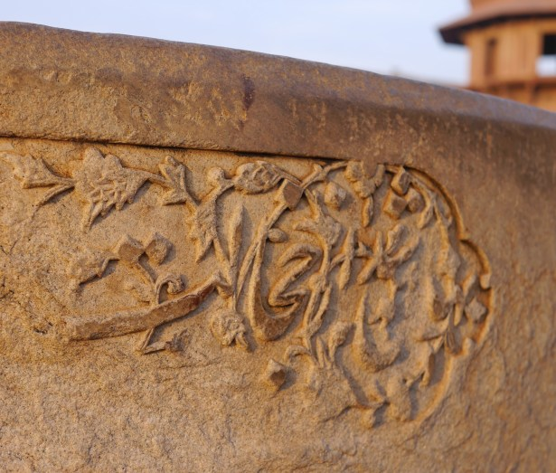 Every inch is drenched in little details, like this fading carving.