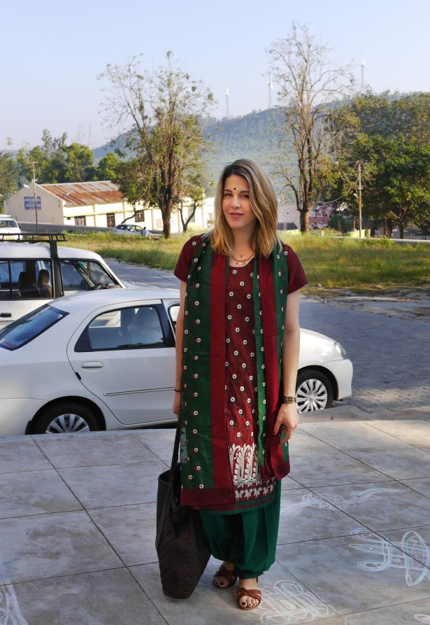 Salwar Kameez: Gift from Mother-in-Law | Sandals: Isabel Marant | Tote: AllSaints