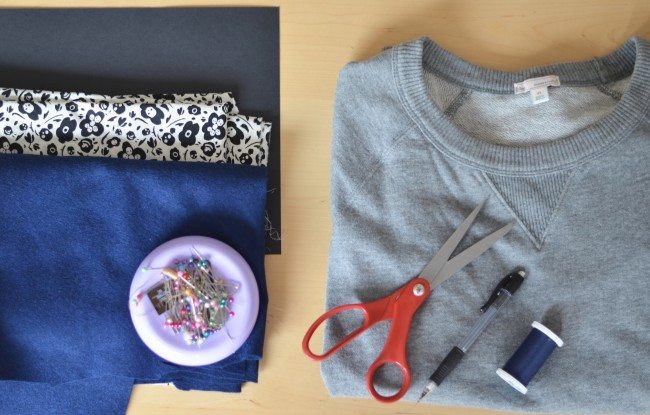 what you need for a DIY varsity letter sweatshirt // thestylesafari.com