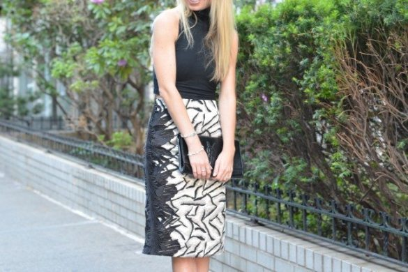 DIY pattern skirt // thestylesafari.com