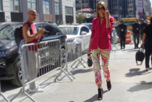 Pink and yellow street style