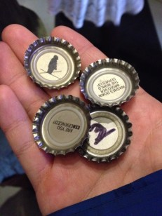 "Bottle cap ""tickets"" to the tour"