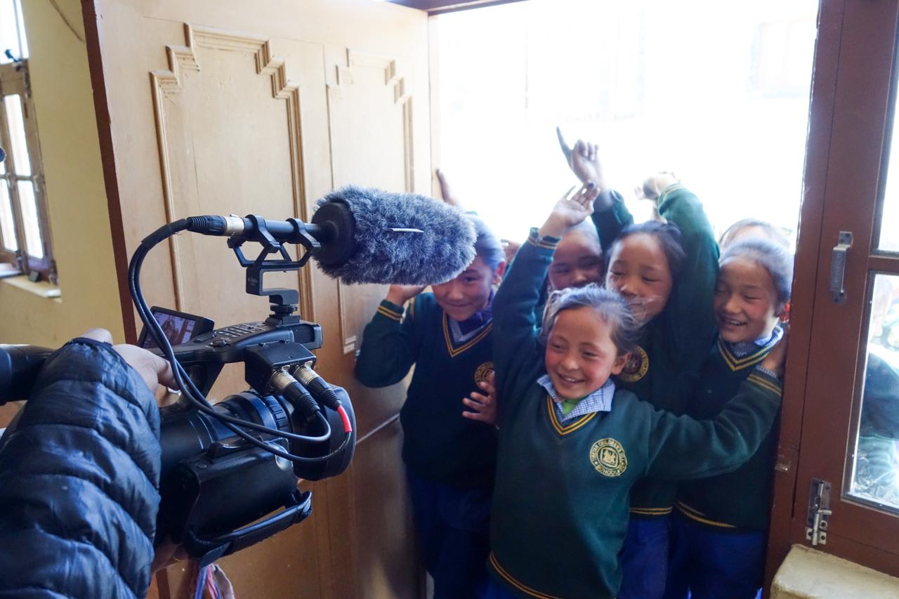 Tibetan girls from Tibetan Children's Village school during our auditions in Ladakh