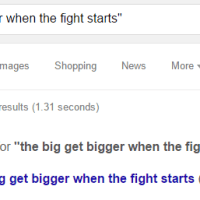The Big Get Bigger When the Fight Starts