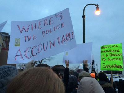 From the Picket Line of Minneapolis' Ferguson Protest