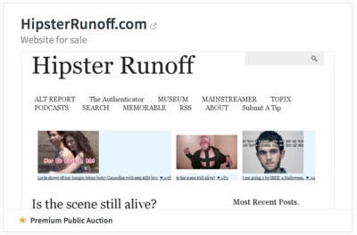 Hipster Runoff is up for auction