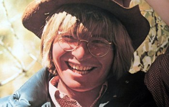 "Detail from the cover of ""John Denver's Greatest Hits"""