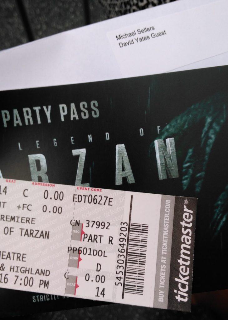 Legend of Tarzan Tickets