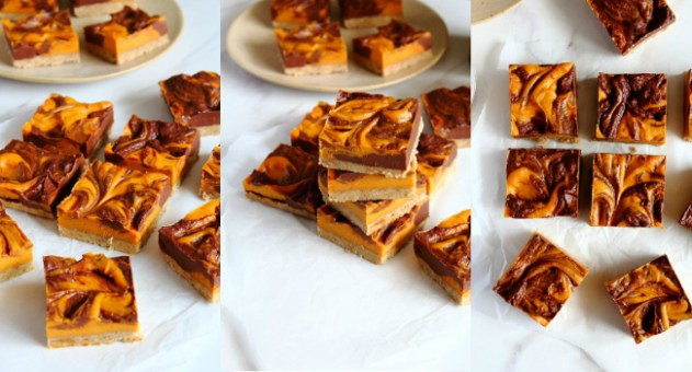 Chocolate Orange Pumpkin Swirl Bars Recipe by Peachy Palate