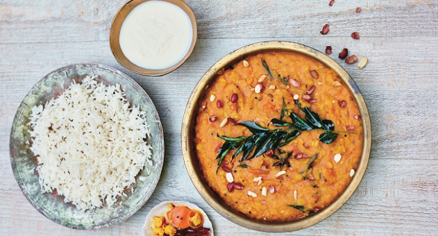Gujarati Dal with Peanuts and Star Anise Recipe from Fresh India Cookbook