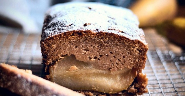 Poached Pear and Ginger Loaf Cake Recipe by The Flour ...