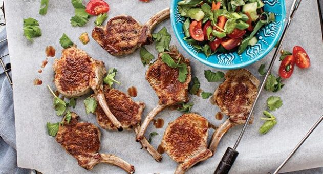Spicy-lamb-cutlets-with-cherry-tomato-salsa