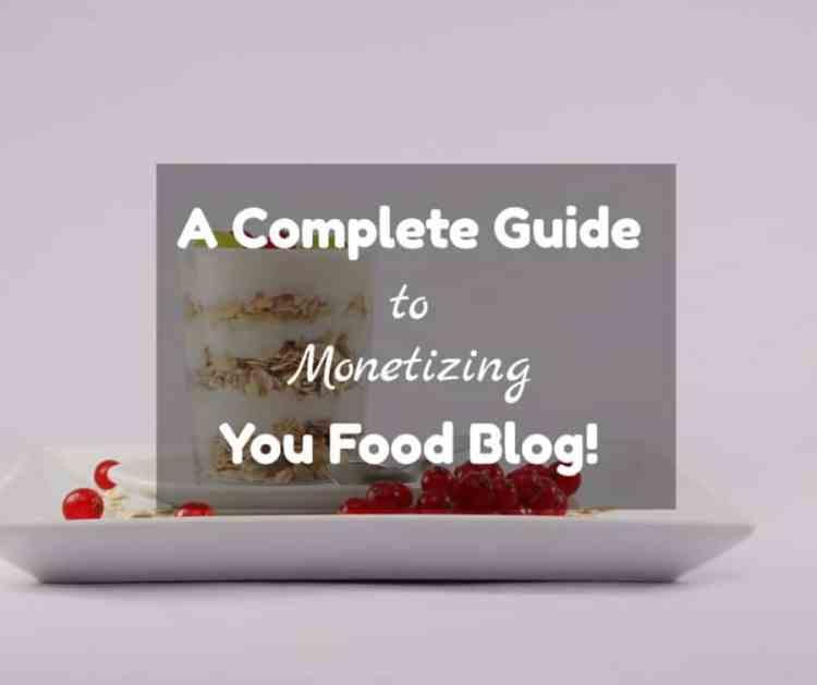 monetize a food blog