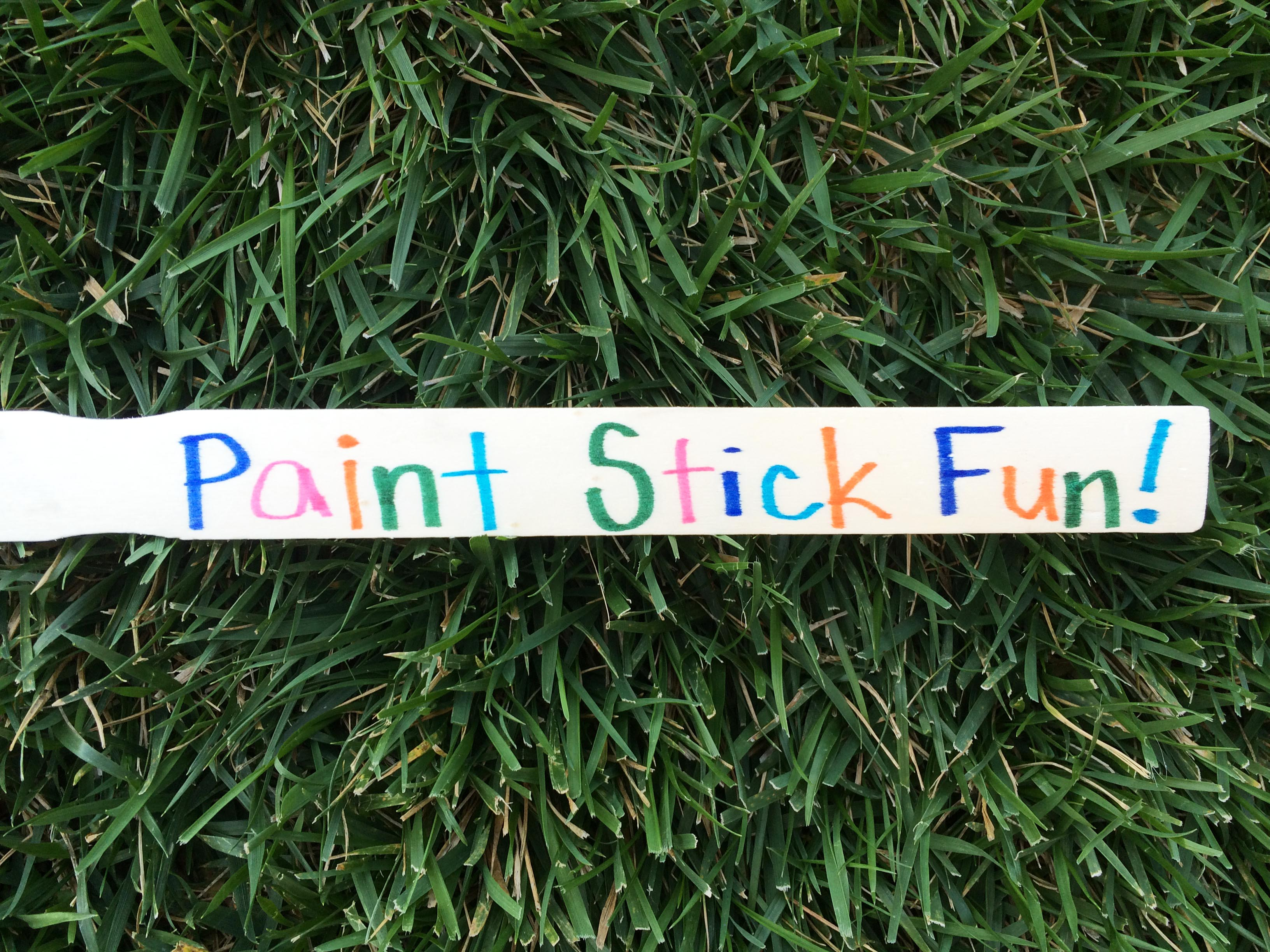hands-on fun with paint sticks!
