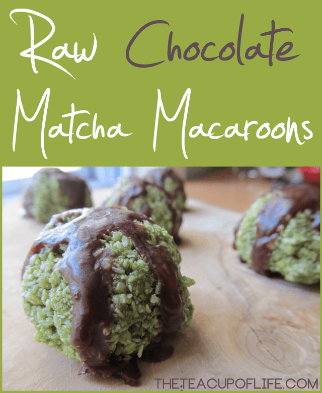 Raw-Chocolate-Matcha-Macroons