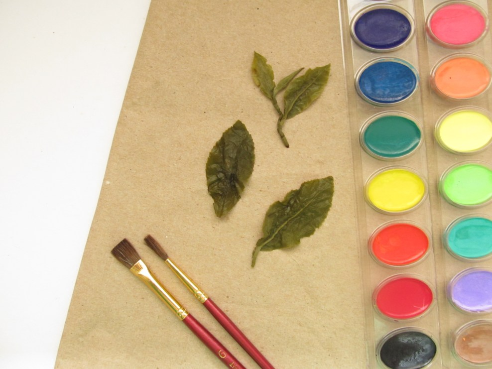 Tea Leaf Printed Wrapping Paper