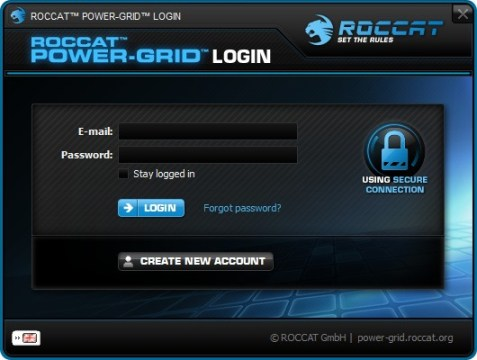Roccat Power Grid Login