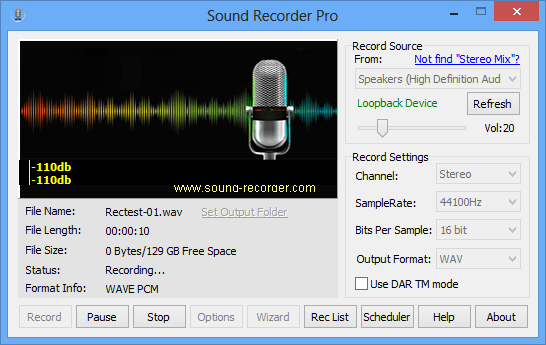 how to use voice record pro